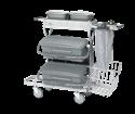 Afbeelding van VEC trolley COMPACT: poedergecoat frame met polypropyleen onderdelen Vikan 580314